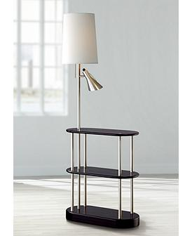 Wood Contemporary With Tray Table Floor Lamps Lamps Plus