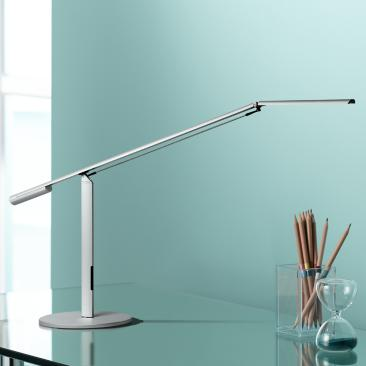 Gen 3 Equo Warm Light LED Silver Desk Lamp with Touch Dimmer