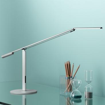 Gen 3 Equo Daylight LED Desk Lamp Silver with Touch Dimmer