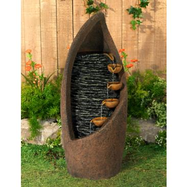 "Modern Cascade 34 1/2"" High Rustic Garden Fountain"