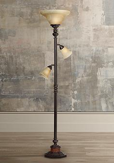 Reading and task floor lamps lamps plus kathy ireland sonnett 3 light torchiere floor lamp aloadofball Gallery