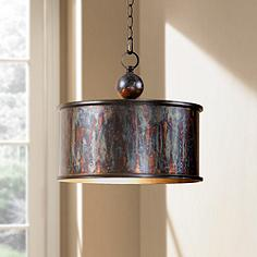 Uttermost pendant lighting lamps plus uttermost albiano drum 1 light pendant mozeypictures Image collections