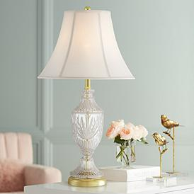 Cut Gl Urn With Br Accents Table Lamp