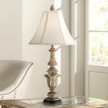 Gold Wash Candlestick Table Lamp