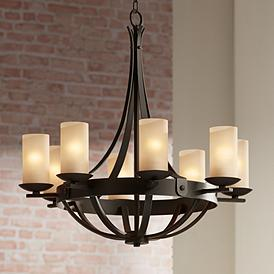 Sperry Bronze 28 Wide Scavo Glass Chandelier
