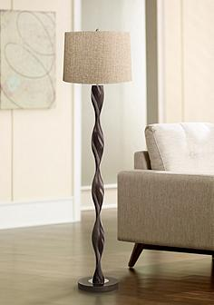 Black floor lamps lamps plus tan woven twist floor lamp mozeypictures Choice Image