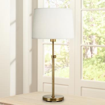 Robert Abbey Koleman Adjustable Aged Brass Club Table Lamp