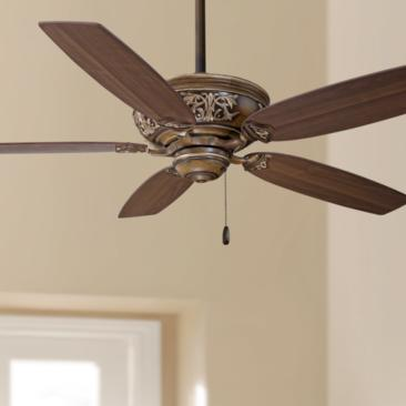 "54"" Minka Aire Classica Belcaro Walnut Finish Ceiling Fan"