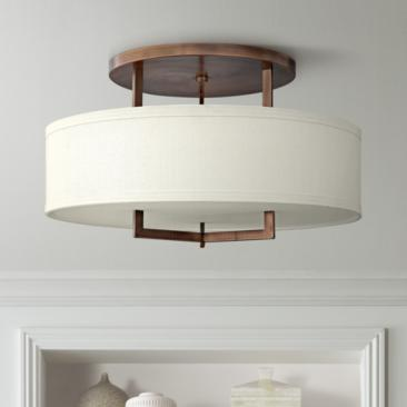 "Hinkley Hampton 26"" Wide Brushed Bronze Ceiling Light"