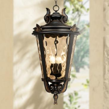 "Casa Marseille™ Bronze 30"" High Outdoor Hanging Light"