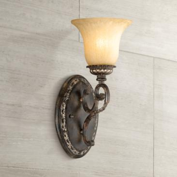 "San Marino Bronze and Gold 14 1/2"" High Wall Sconce"