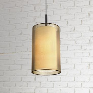 "Sonneman Puri 9"" Wide Brass Organza Mini Pendant Light"