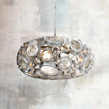 "Varaluz Fascination Nevada 11"" Reclaimed Glass Chandelier"