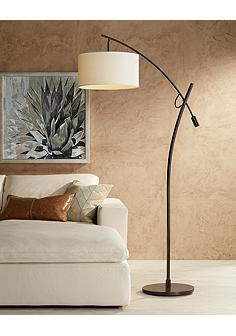 Contemporary floor lamps modern lamp designs lamps plus possini euro bronze finish boom arched floor lamp mozeypictures Images