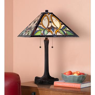 Robert Louis Tiffany Victorian Art Glass Table Lamp