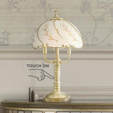 "Flower Petal 19 1/2"" High 3-Light Touch On-Off Table Lamp"