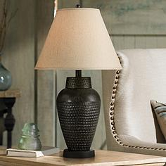 Regency hill transitional table lamps lamps plus auburn hammered bronze table lamp mozeypictures Image collections
