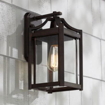 "Rockford Collection 12 1/2"" High Bronze Outdoor Wall Light"