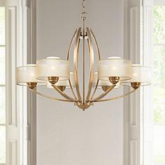 Possini Euro Alecia 34 Wide French Gold Chandelier