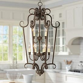 Mont Chambord 17 Wide Iron Foyer Pendant Light