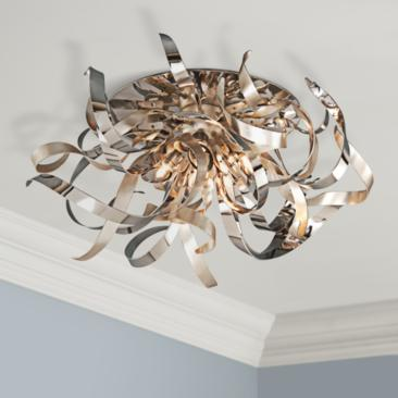 "Corbett Graffiti 24"" Wide Contemporary Ceiling Light Fixture"