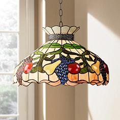 Tiffany pendants lights by robert louis tiffany lamps plus ripe fruit 3 light tiffany style glass pendant light aloadofball Images