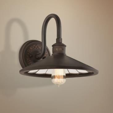 "Brooklyn 12"" Wide Bronze Wall Light by Troy Lighting"