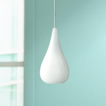 "Ice Drop 6 1/4"" Wide Opal Glass Mini Pendant Light"