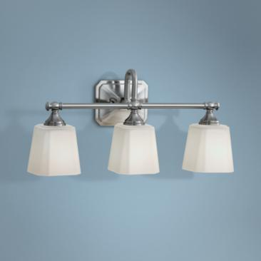 "Feiss Concord 3-Light 21"" Wide Brushed Nickel Bath Light"