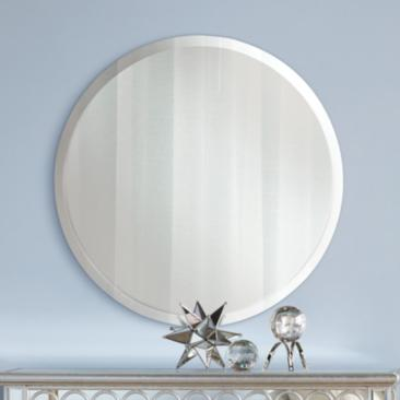 "Feiss Infinity 30"" Wide Round Wall Mirror"