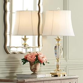 Vienna Full Spectrum Crystal And Br Table Lamp