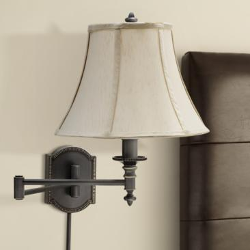 House of Troy Decorative Bronze Swing Arm Wall Lamp