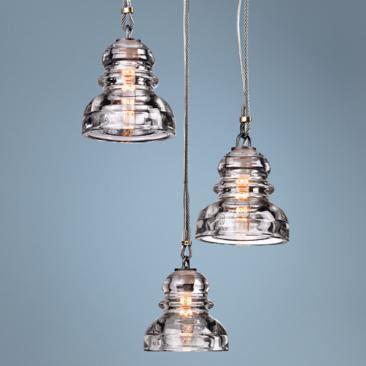 "Menlo Park 3-Light 13 3/4"" Wide Old Silver Pendant Light"