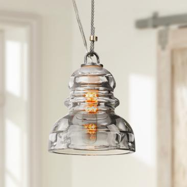 "Menlo Park 5 3/4"" Wide Old Silver Mini Pendant Light"