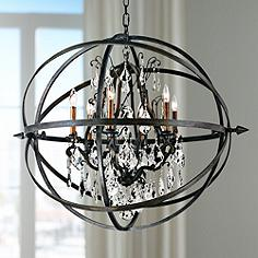 Crystal Orb Chandeliers Lamps Plus - Orb chandelier with crystals