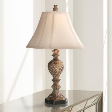 Regio Carved Brown Table Lamp