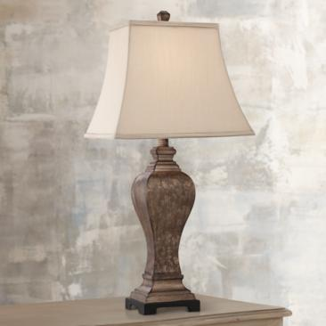 "Edgar 29"" High Bronze Table Lamp by Regency Hill"