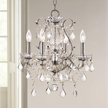 "Vienna Full Spectrum 17"" Wide Chrome and Crystal Chandelier"