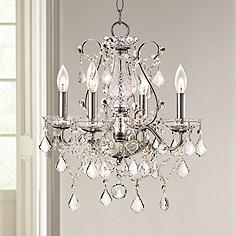 Mini chandeliers luxe looks for the bedroom bathrooms closet and vienna full spectrum 17 aloadofball