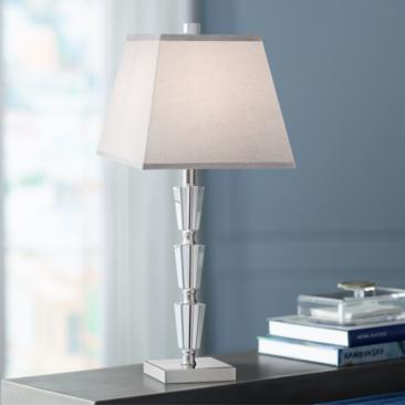 Deco Collection Stacked Crystal Table Lamp