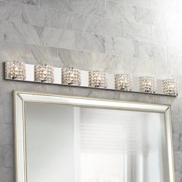 "Vienna Full Spectrum Cesenna 64 1/2"" Wide Crystal Bath Light"