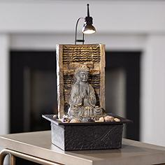 Indoor tabletop fountains lamps plus namaste buddha 11 12 workwithnaturefo