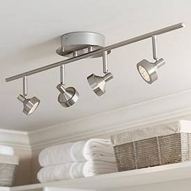 Pro Track Tilden 4 Light Brushed Nickel Led Ceiling