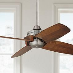 Small ceiling fans without lights lamps plus 32 casa vieja pronto brushed nickel ceiling fan aloadofball Gallery