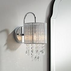 Possini euro design crystal bathroom sconces bathroom lighting possini euro silver line 12 aloadofball