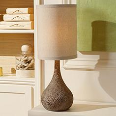 Rustic table lamps lodge and cabin styles lamps plus canada chalane hammered gourd bronze table lamp mozeypictures Image collections