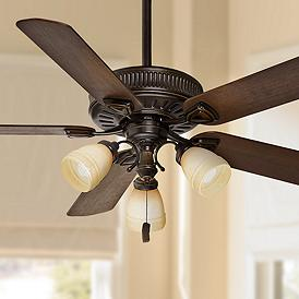 54 Ainsworth Gallery Three Light Basque Black Ceiling Fan