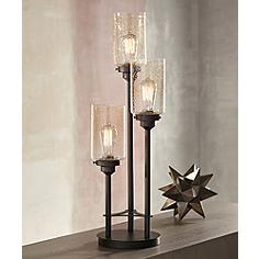 Contemporary table lamps modern lamp designs lamps plus libby 3 light industrial console lamp with edison bulbs aloadofball