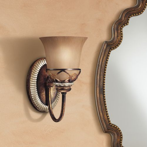 "Aston Court Collection 10 1/4"" High Bronze Wall Sconce"