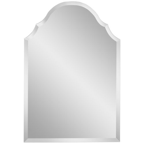 "Adonia 24"" x 36"" Crown Frameless Beveled Wall Mirror"